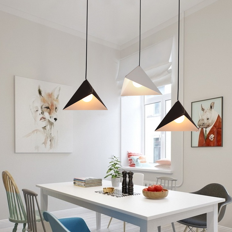 Modern pendant lights iron black pendant lamp for living room office modern pendant lights iron black pendant lamp for living room office geometric hanging lamp kitchen fixtures lighting lights in pendant lights from lights aloadofball Image collections