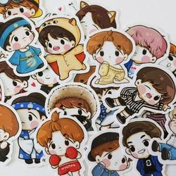 67pcs Creative Cute Self-made exo Q version pretty boys Scrapbooking Stickers /Decorative Sticker /DIY Craft Photo Albums