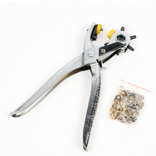 цены 1pc High Carbon Steel Hole Punch Hand Pliers Multi-function Puncher Heavy Duty Leather Hole Punch Hand Pliers Belt  Punchs Tool