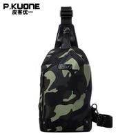 P KUONE Men S Nylon Chest Pack Famous Luxury Brand Crossbody Bag Men Messenger Bag Fashion