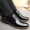 Melhor qualidade Genuína sapatos De Couro homens sapatos baixos Macio e Respirável homens Preguiçosos Confortável design Minimalista sapatos Oxford
