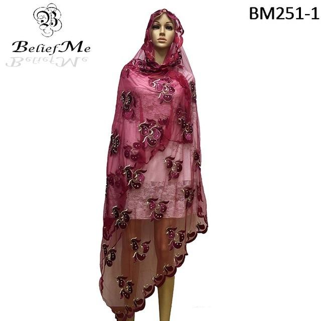 d64b5cbc9e38 Le plus récent Africain femmes écharpes, musulman Plaine Broderie net femmes  écharpe, bourgogne écharpe