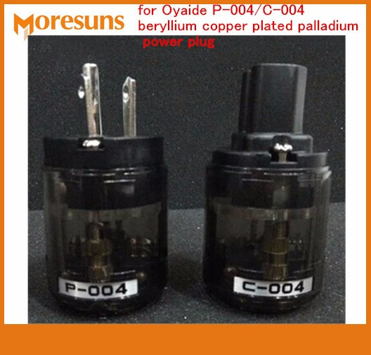 Fast Free Ship 2set/lot Japan For Oyaide P-004/C-004 Beryllium Copper Plated Palladium Plug Connector Fever Power Plug