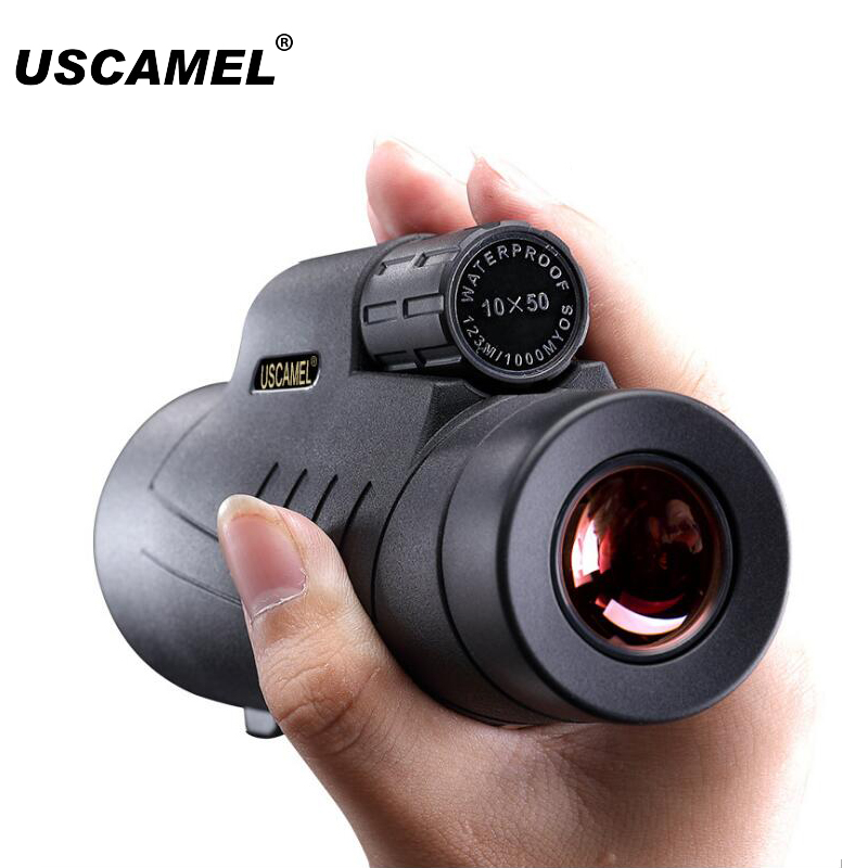 USCAMEL 10x50 HD Monocular Telescope Outdoor Waterproof Optic Lens Hunting Travel Spotting Scope Monocular Telescope Phone cbr cycling gloves bicycle bike racing sport mountain mtb cycling glove breathable mtb road bike guantes ciclismo cycling gloves