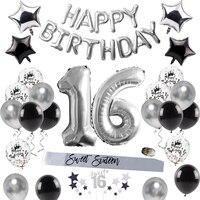 QIFU С Днем Рождения украшения для детей и взрослых 16 воздушные шары на день рождения милые 16 вечерние украшения 16 Декор ко дню рождения розов...