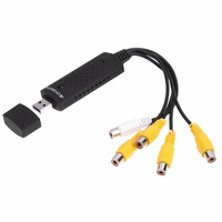 New Portable Easy 4 Channel USB 2 0 DVR Video Capture Audio Record Card Adapter Composite