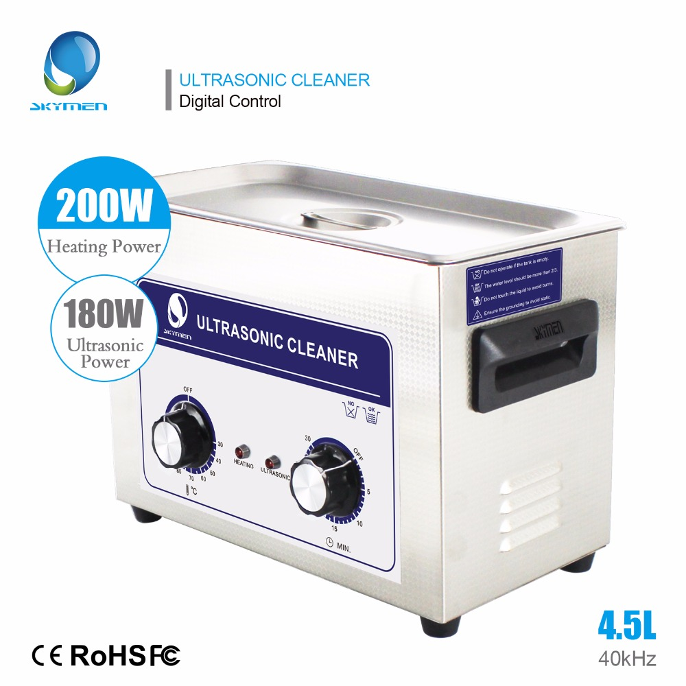 все цены на Skymen Ultrasonic Cleaner 4L 4.5L 180W Knob Stainless Steel Ultrasonic Cleaner Bath Hospital Industrial Auto Engine Parts