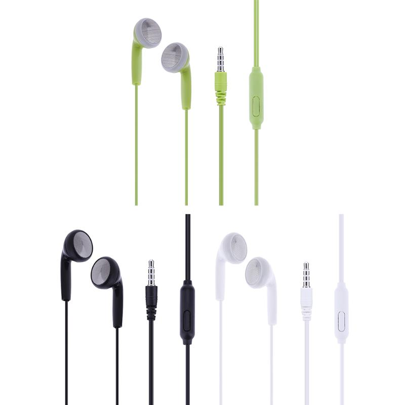 Universal 3.5mm Wired Earphone Stereo In Ear Earpiece Headset Cheap Small Earpiece Earphones with Microphone for Smartphone MP3