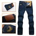 Jean hombres de multimillonario de alta costura italiana 2016 populares 100% algodón comodidad guapo excelente tela bordada envío libre