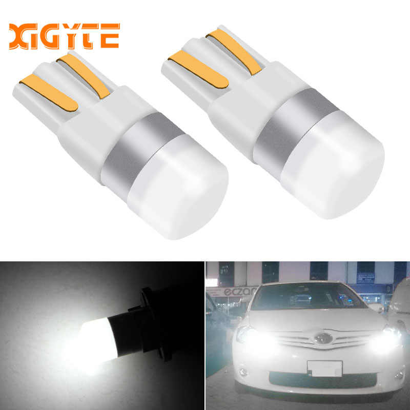 2X 3030 SMD T10 W5W LED Car Clearance Lights Reading lamp Auto vehicle dome door bulb accessories white red Ice blue Car styling