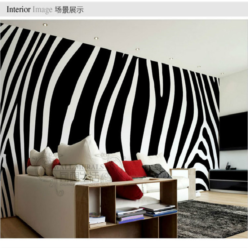 Black and white fashion zebra custom 3D wallpaper mural 3D wallpaper mural of large 3D modern bedroom living room backdrop custom green forest trees natural landscape mural for living room bedroom tv backdrop of modern 3d vinyl wallpaper murals