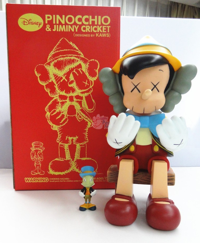 12inch Original Fake KAWS Pinocchio Puppet Sitting Type With Retail box medicom toy kaws Factory Samples Fashion Toys pinocchio level 4