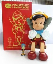 12 pouces D'origine Faux KAWS Pinocchio Marionnette Assis Type Avec la boîte de Détail medicom toy kaws Usine Échantillons Mode Jouets