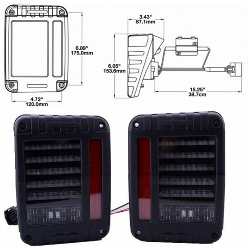 Дым объектив LED тормоз хвост света conversion сборка лампы заднего включите Сингал заднего света для 07-15 Jeep Вранглер JK