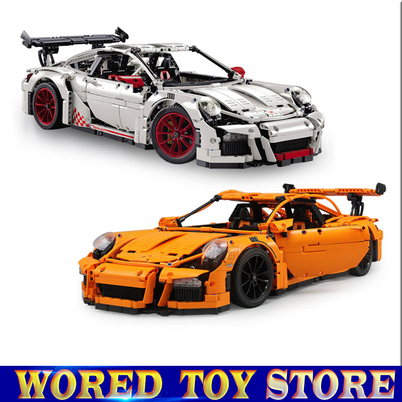 New LEPIN 20001 20001B technic series Racing Car Model Building Kits Blocks Bricks Compatible 42056 Boys Gift Educational Toy