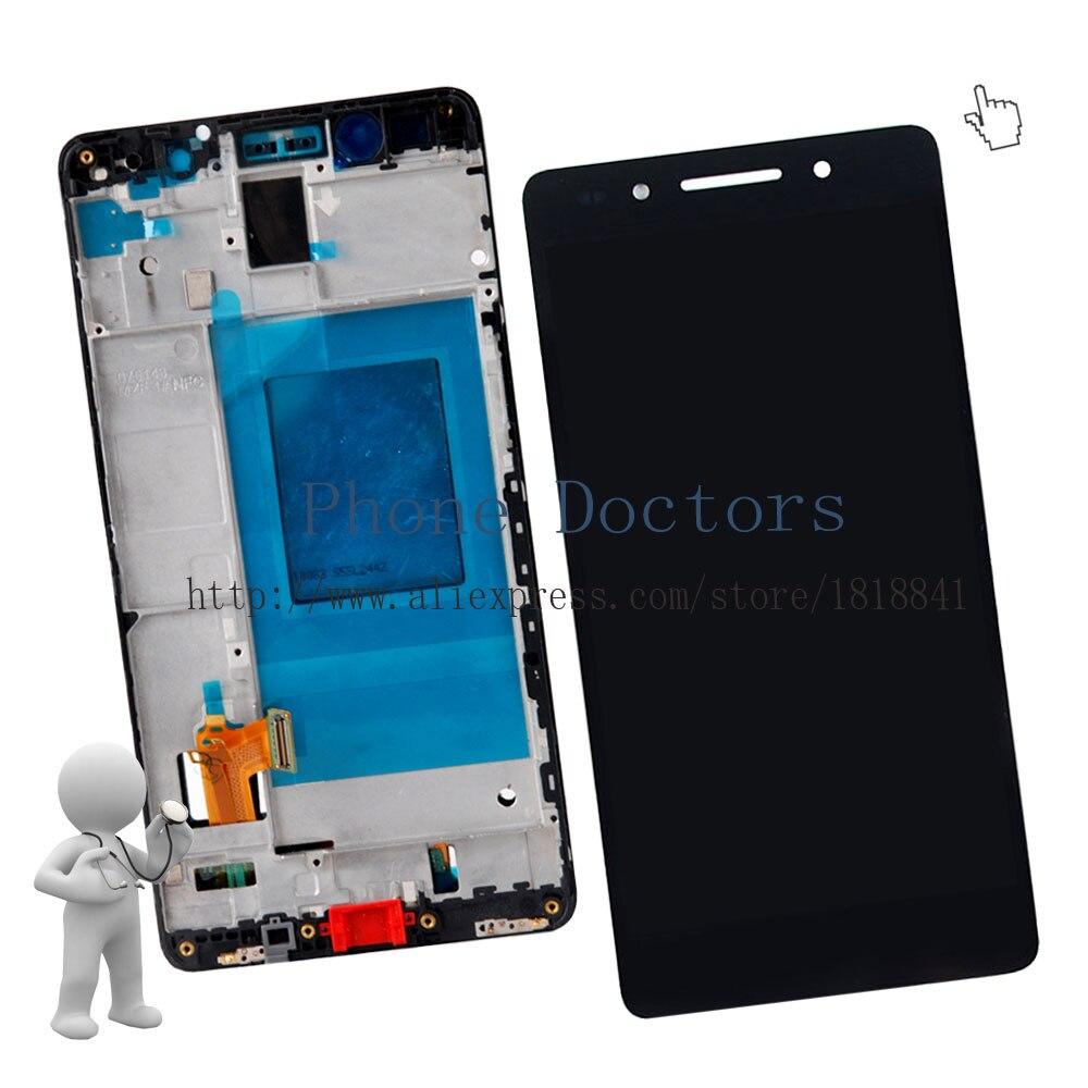 imágenes para Pantalla LCD Full + Pantalla Táctil de Cristal Digitalizador + Frame Asamblea de La Cubierta Para Huawei Ascend Honor 7 PLk-TL01H PLK-UL00; negro; nueva