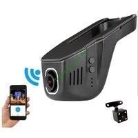 Universal Wifi DVR for Toyota/Chevrolet/Ford/Nissan/Kia/Hyundai Adjustable Angle Control by App Two Camera Optional