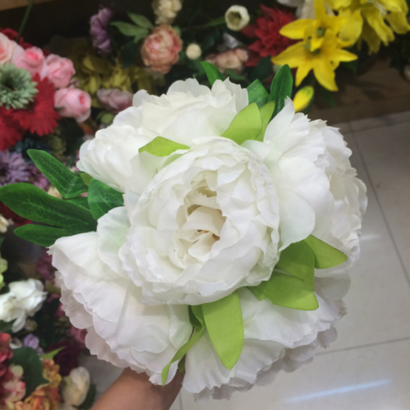 Hot sale 1 bouquet 5 heads fake peony artificial flower wedding hot sale 1 bouquet 5 heads fake peony artificial flower wedding decoration accessories wedding bride artificial flower nb0043 junglespirit Gallery