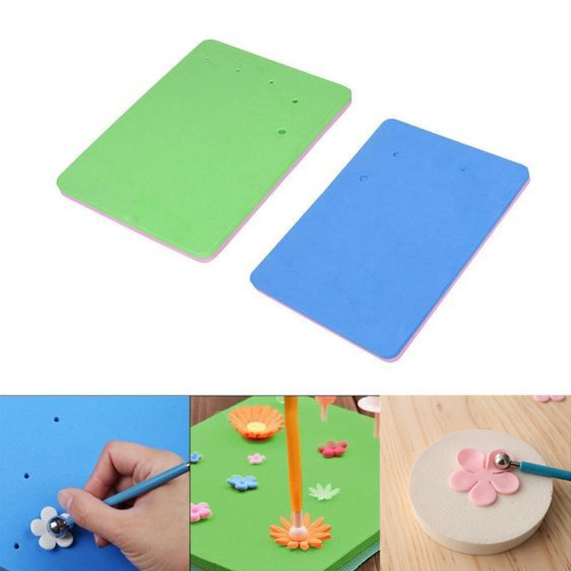 5 Holes Kitchen Fondant <font><b>Cake</b></font> <font><b>Decorating</b></font> <font><b>Flower</b></font> EVA Foam Mat Sugarcraft Sponge Pads For Sugar Craft Decor image