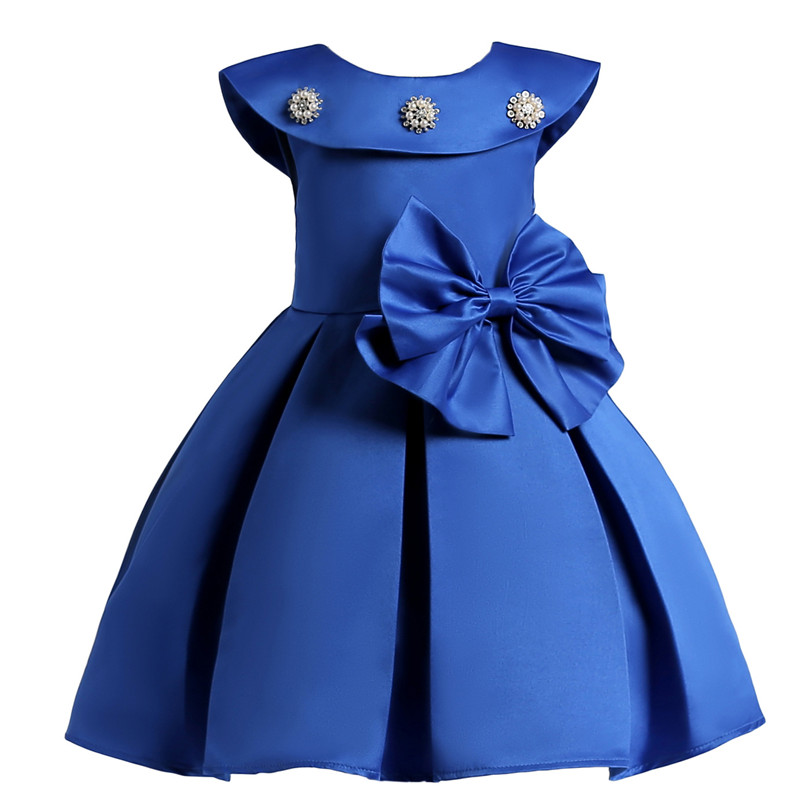Princess Party Dresses Flower Girls Dress Sequins Bowknot Wedding Pageant Children Clothes 3-10 Years цены онлайн