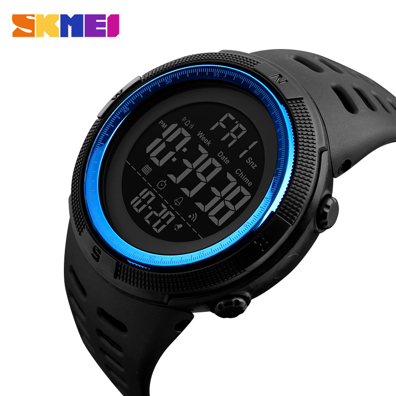 SKMEI Brand Men's Fashion Sports Watches Chrono Countdown Men Waterproof Digital Watch Man Military Clock Relogio Masculino