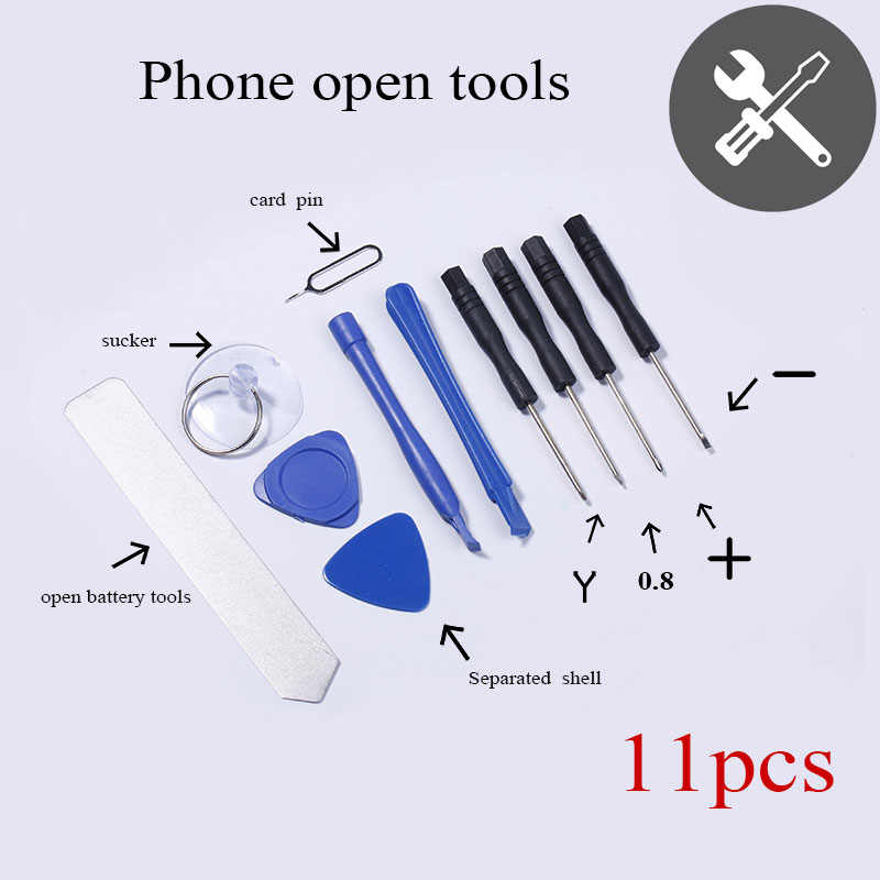 11PCS in 1 Set Hand Repair Phone Disassemble Pry Open Tools Kit Screwdriver for iPhone  4s 5 5c 5s 6 6s 6p 6sp 7 7p Touch Screen