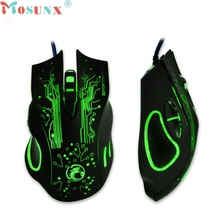 Ecosin2 mosunx 2400 dpi led óptico 6d usb wired gaming mouse juego para pc portátil game 17mar24