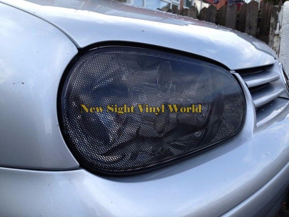 2 рулона/серия перфорированные окна автомобиля Fly глаз фар винил Обёрточная бумага Плёнки SPI Vision, сетка оттенок ПВХ