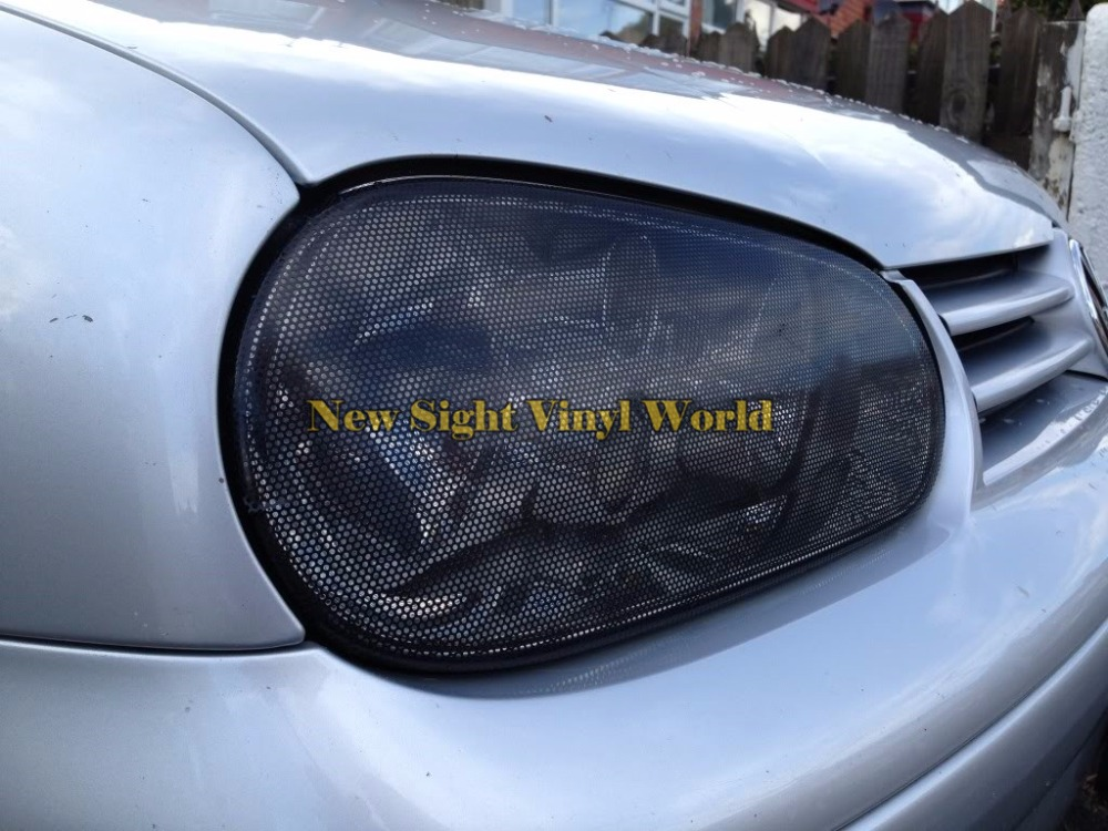 2 rolls lot perforated car window fly eye headlight vinyl wrap film spi vision mesh tint pvc in. Black Bedroom Furniture Sets. Home Design Ideas