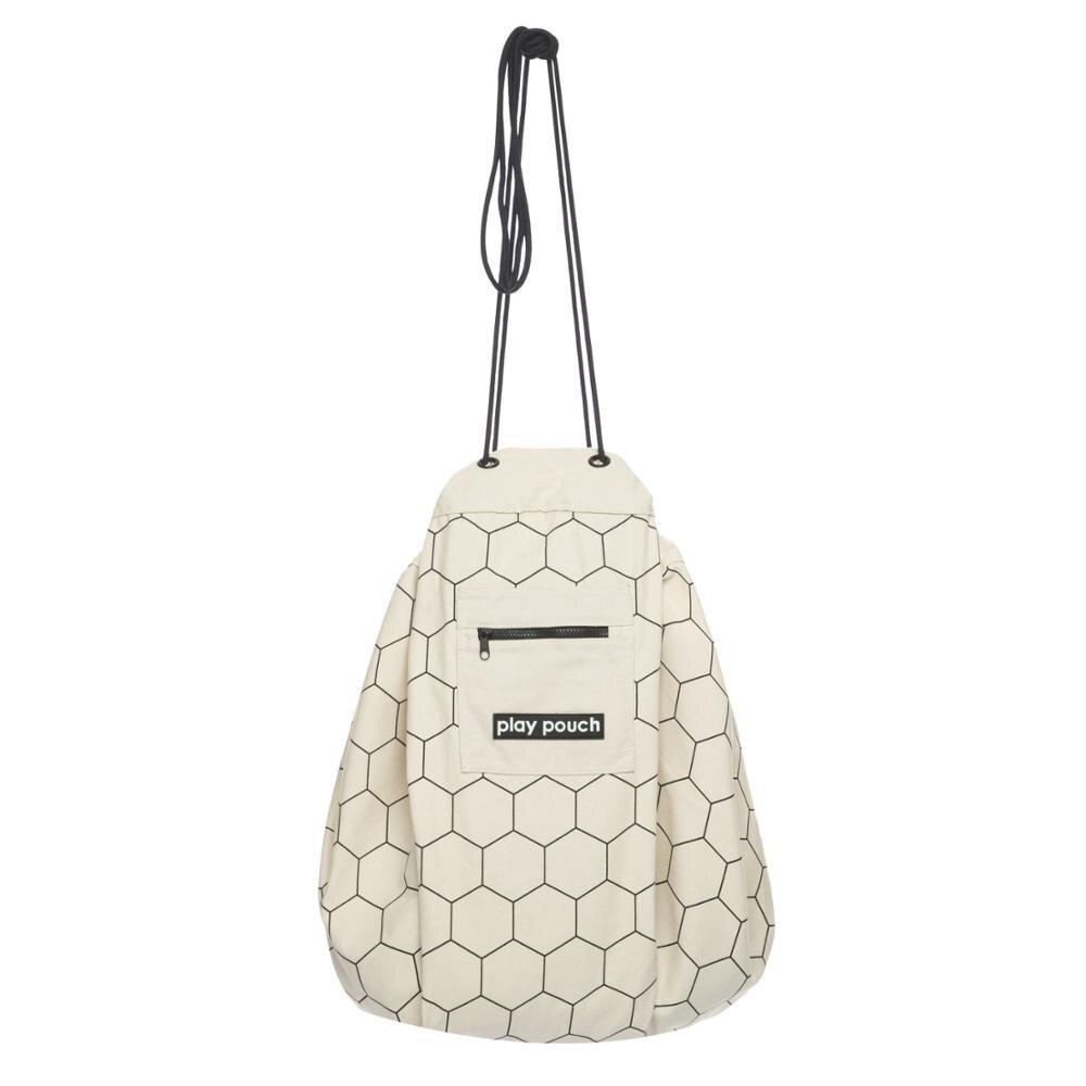 5 стилей INS модный сотовый треугольник плюс точка Бэтмен большая сумка для хранения игрушек с карманом на молнии детский коврик для игры с мешочком - Цвет: honeycomb