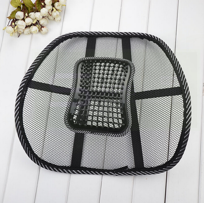 Car Seat Chair Back Massage Black Lumbar Support Mesh Ventilate Cushion Pad for Office &Car seat home and truck chairs massage chair cushion for neck shoulder back waist with far infrared heating and vibration massage heat seat for home car office