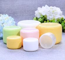 10g/20g/50g/100g Refillable Bottles Plastic Empty Makeup Jar Pot Travel Face Cream/Lotion/Cosmetic Container random color