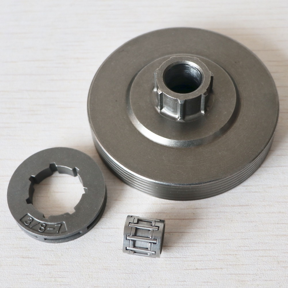 3800 kettensäge Kupplung Trommel mit Nadellager mit 3/8-7 Zähne Kettenrad Felge