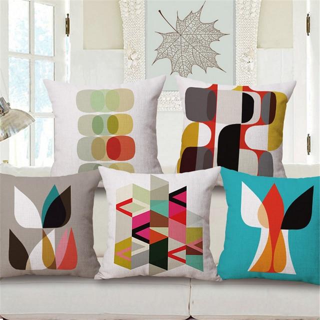 Geometric Cushion Cover Case 45x45cm For Sofa Capa Para Almofada Designer Nordic Plain Throw Pillows