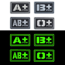 Blood Type ABO Tactical Morale Patch Useful Blood Group Military Combat Armband Badge Clothing Badge For Jackets Jeans Hat Cap(China)