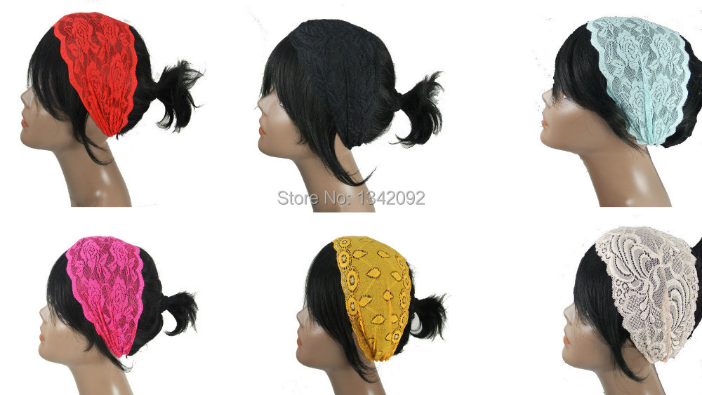 fashion turban floral lace