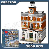 2859pcs New Creator Town Hall Bell tower DIY Model Building Blocks 30014 Bricks Education Toys Compatible with Lego