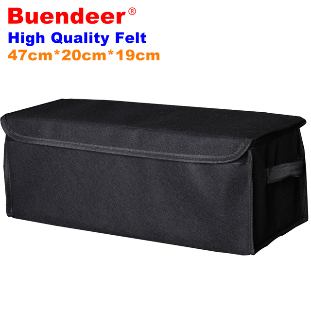 Buendeer Car Bag Organizer Big Stowing Tidying Box For Car Seat Back Travel Interior Vehicle Tools Car Accessories Trunk Storage