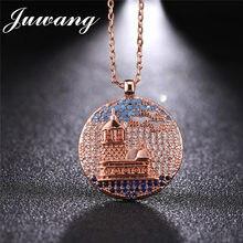 JUWANG marque londres tour pendentif collier Ali Moda femmes homme mode Micro pavé Zircon bijoux jour de Thanksgiving cadeau de noël