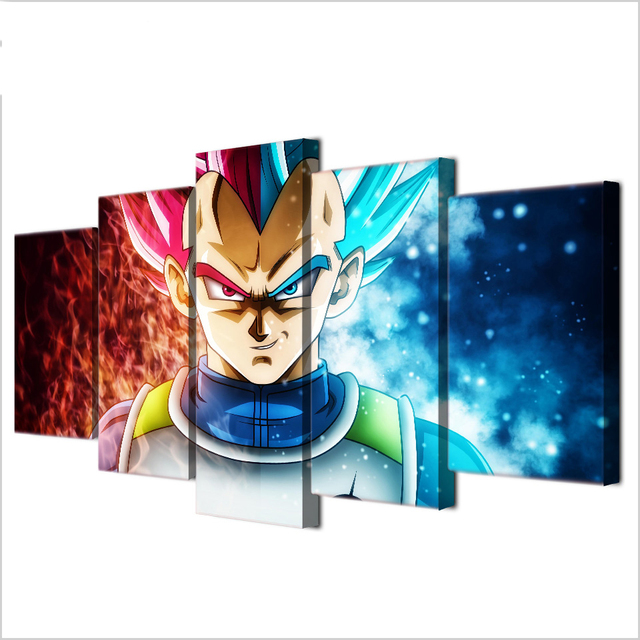 5 Painting Modern Decoration Picture Dragon Ball Z Canvas Living Room Kid Poster And Print
