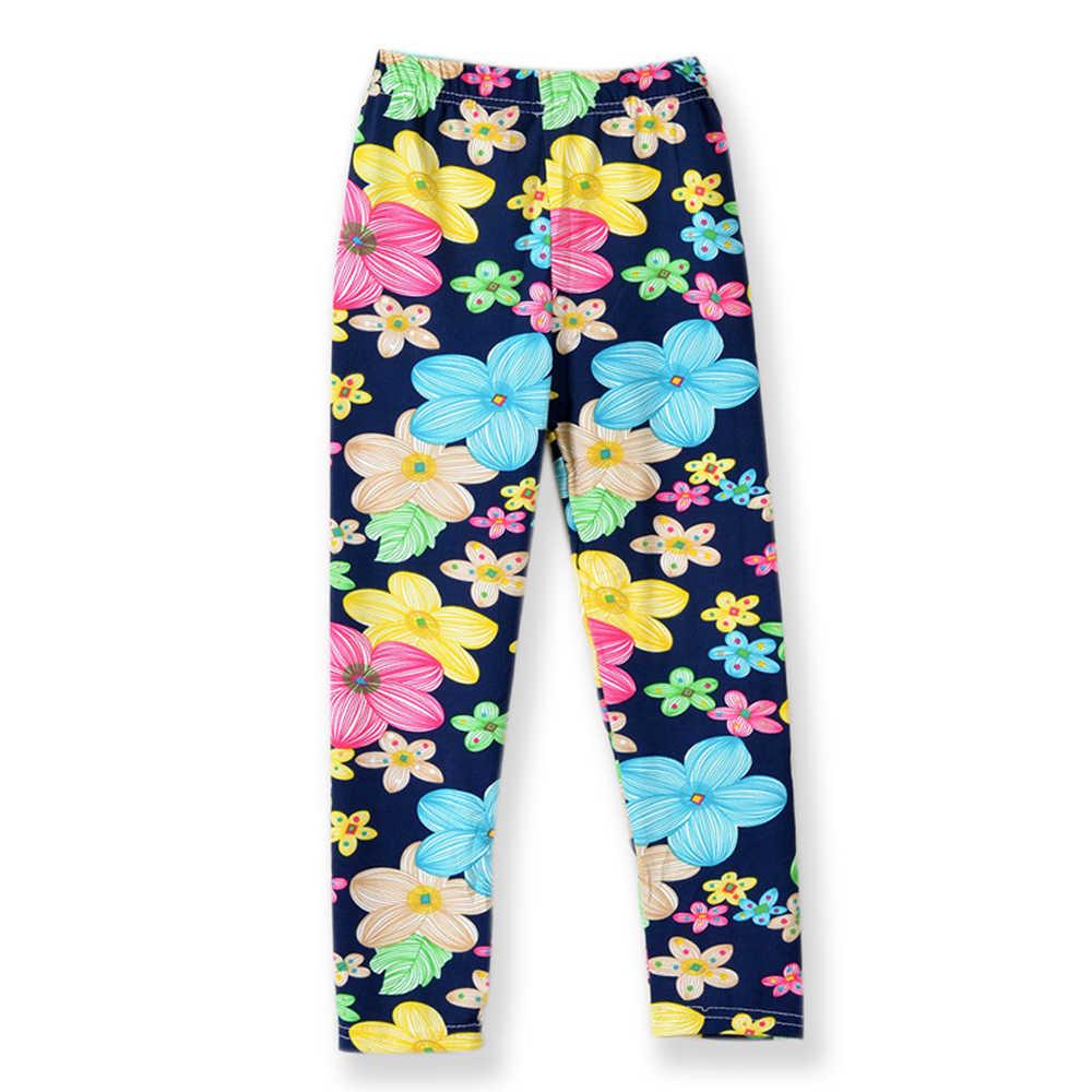b87dec5b907f0c ... Girl Skinny Pants New Arrive Floral Printing Flower Girls Leggings  Toddler Elastic Trousers Leggings 2- ...