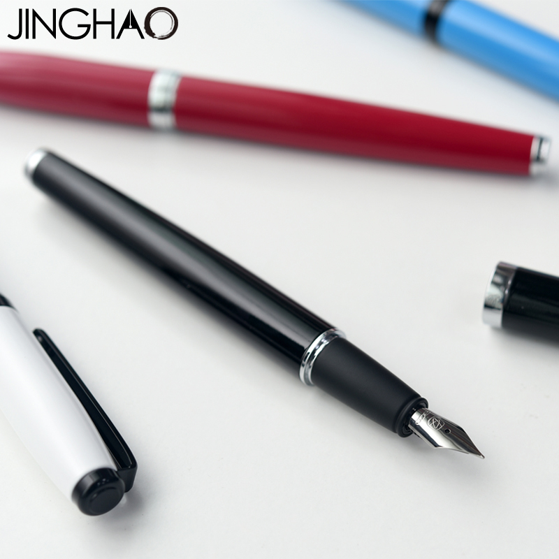 Jinghao KACO COBBLE Series Fashion Simple Fountain Pen Luxury Metal Inking Pens for Writing Office School Stationery Supplies jinghao kaco balance series charming red with silver clip fountain pen 0 5mm f nib metal inking pens for office christmas gift