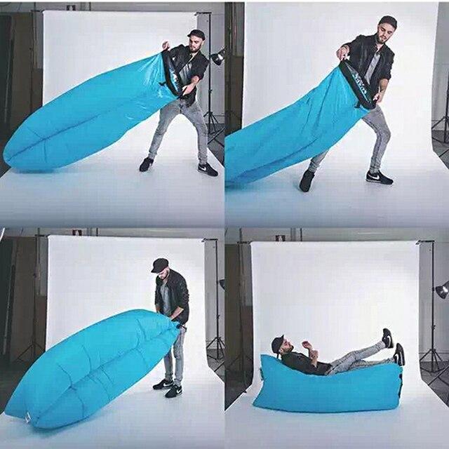 Inflatable Bed Outdoor Portable Sofa Beach Sleeping Bag Camping Air Bed  Nylon LazyBed Saco De Dormir