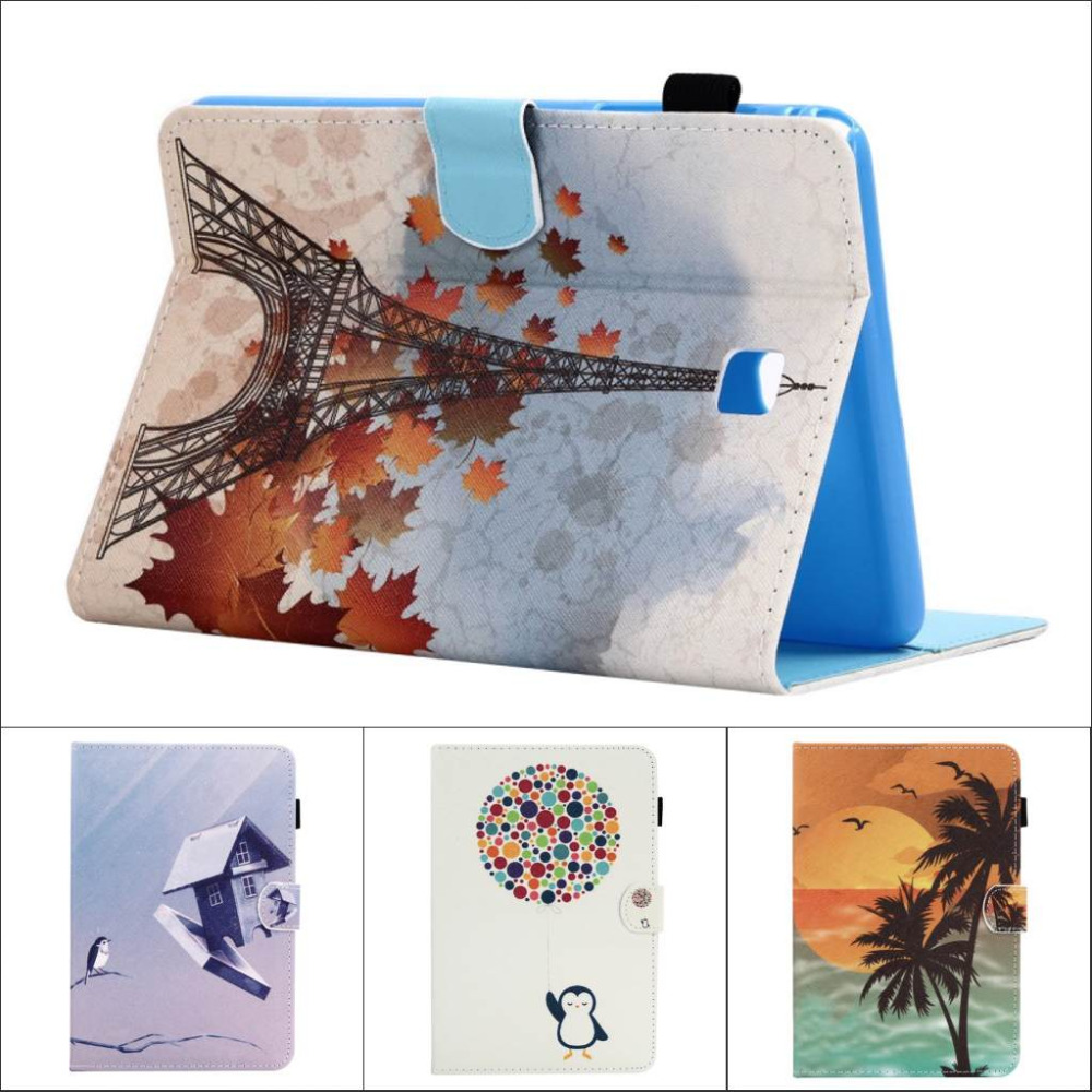 Fashion Flower Tree Owl Card Slot Pu leather stand holder Cover Case For Samsung Galaxy Tab A 8.0 T350 T351 T355 with pen