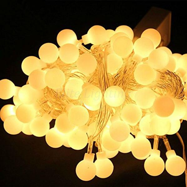 buy 10m 100 led globe string lights warm. Black Bedroom Furniture Sets. Home Design Ideas