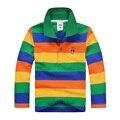 Top quality kids boy girl polo shirts school uniform shirt  boys long sleeve t shirt   cotton children clothes cheap price