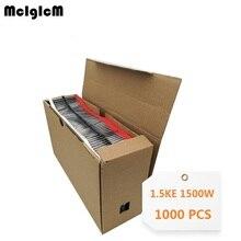 McIgIcM 1000pcs 1500W DO 201AD TVS 1.5KE13A 1.5KE16A 1.5KE18A 1.5KE20A 1.5KE22A 1.5KE24A 1.5KE30A 1.5KE33A 1.5KE36A 1.5KE39A