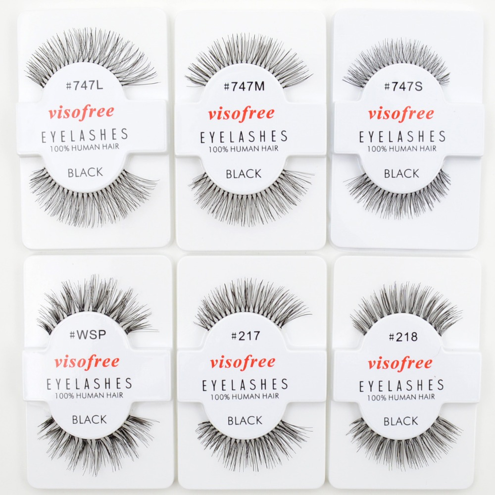 Image 2 - 120pairs/lot Visofree Eyelashes Handmade Natural False Eyelashes Cruelty Free Fake Mink Eyelashes Long Eyelash Extension Lashes-in False Eyelashes from Beauty & Health