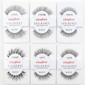 Image 2 - 120pairs/lot Visofree Eyelashes Handmade Natural False Eyelashes Cruelty Free Fake Mink Eyelashes Long Eyelash Extension Lashes