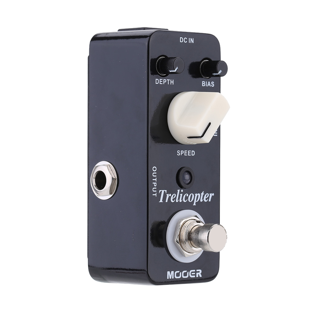 Mooer Trelicopter Micro Electric Guitar Effect Pedal Mini Optical Tremolo Guitar Pedal True Bypas Guitar Parts